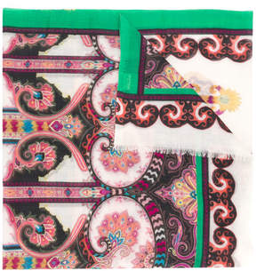 Etro cashmere embroidered scarf