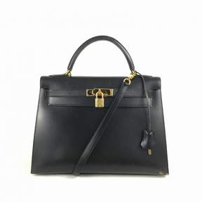 Hermes Kelly leather tote - NAVY - STYLE