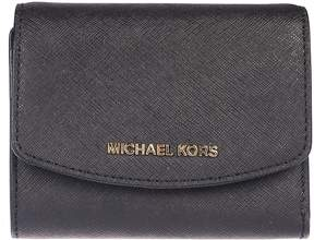 Michael Kors Logo Plaque French Wallet - BLACK - STYLE