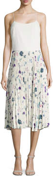 Ava & Aiden Women's Printed Pleated Dress