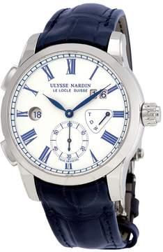 Ulysse Nardin Classic Dual Time White Enamel Dial Men's Watch