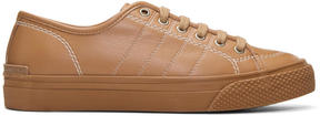Stella McCartney Tan Contrast Stitch Sneakers
