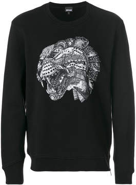 Just Cavalli leopard head print sweatshirt
