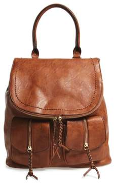 Sole Society Emery Faux Leather Backpack - Brown