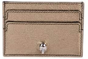 Alexander McQueen Skull-Embellished Leather Cardholder