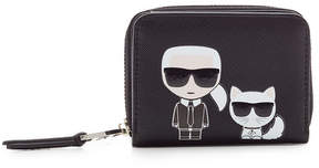 Karl Lagerfeld K/Ikonik Zipped Wallet