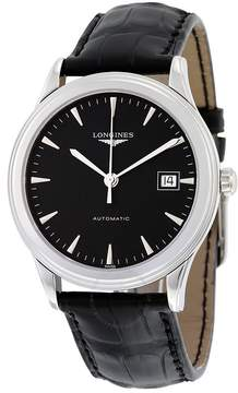 Longines Flagship Automatic Black Dial Black Leather Men's Watch