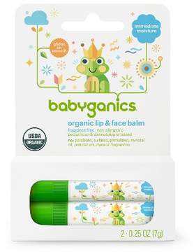Babyganics Fragrance-Free Lip & Face Balm - 0.5oz (2 pk)