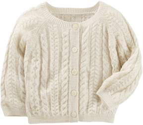 Osh Kosh Oshkosh Bgosh Baby Girl Cable Knit Cardigan Sweater