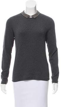 Peserico Pointed Collar Long Sleeve Sweater