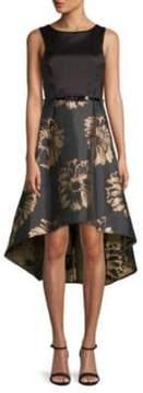 Donna Ricco Sleeveless Hi-Lo Dress