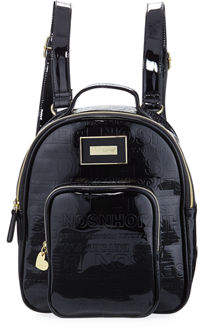 Betsey Johnson Logo-Embossed Faux-Leather Backpack