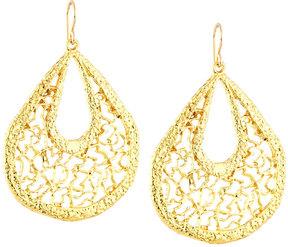 Devon Leigh Golden Filigree Teardrop Earrings