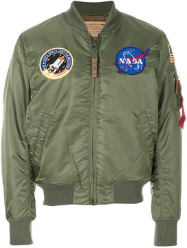 Alpha Industries multi patch bomber jacket