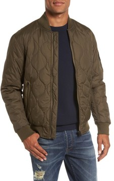 French Connection Men's Regular Fit Quilted Bomber Jacket