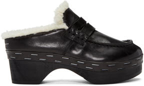 MM6 MAISON MARGIELA Black Clog Loafers