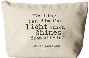 Dogeared - Maya Angelou: Nothing Can Dim The Light Lil Zip Handbags