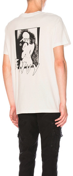 RtA Chest Pocket Graphic Tee in White.