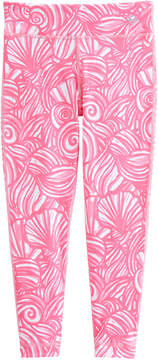 Vineyard Vines Girls Nautilus Shell Print Performance Leggings