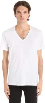 Calvin Klein Underwear Basic V Neck Stretch Jersey T-Shirt