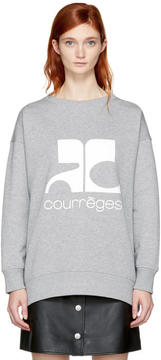 Courreges Grey Logo Sweatshirt