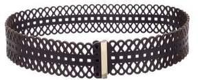 Tory Burch Laser-Cut Leather Belt