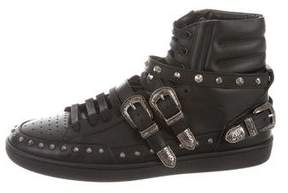 Saint Laurent 2014 SL/08H Studded Buckle Sneakers