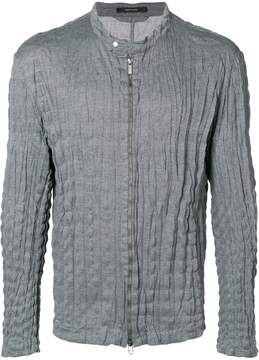 Issey Miyake zipped fitted jacket