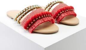Forever 21 Fringed Pom Pom Sandals