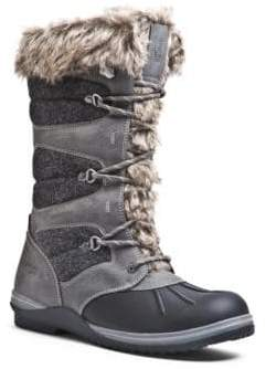 Blondo Sasha Waterproof Leather and Faux Fur-Cuffed Boots