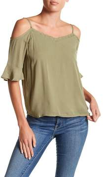 Noisy May Alberte Cold Shoulder Lace Trim Top