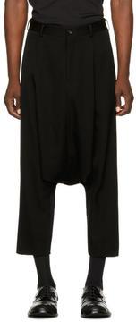 Comme des Garcons Black Wool Harem Trousers