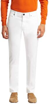 Luciano Barbera Men's Solid Cotton Trousers