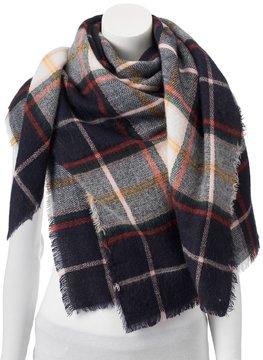 Apt. 9 Pop Color Checker Plaid Square Blanket Scarf