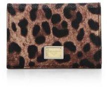 Dolce & Gabbana Leopard-Print Card Holder - NATURAL - STYLE