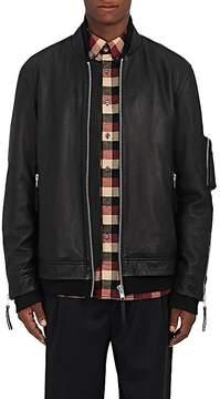Public School Men's Leather Oversized Bomber Jacket