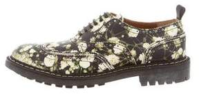 Givenchy Floral Print Commndo Brogues w/ Tags
