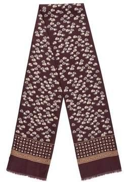 Dolce & Gabbana Porcupine Print Silk Scarf