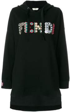 Fendi embellished maxi hoodie