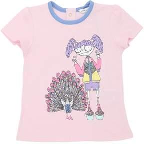 Little Marc Jacobs Peacock Cotton Blend Jersey T-Shirt