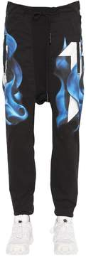 11 By Boris Bidjan Saberi Printed Cotton Jersey Jogging Pants
