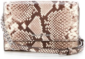 MICHAEL Michael Kors Ruby Snake-Embossed Clutch - NATURAL - STYLE