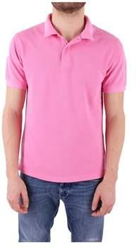 Sun 68 Men's Pink Cotton Polo Shirt.