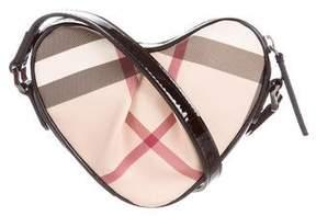 Burberry Nova Check Mini Heart Crossbody Bag - NEUTRALS - STYLE
