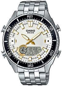 Casio Men's Silver Analog-Digital Watch