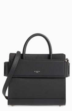 Givenchy Mini Horizon Grained Calfskin Leather Tote - Black