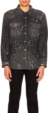 Amiri Western Denim Paint Shirt