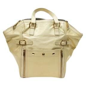 Saint Laurent Downtown patent leather handbag - ECRU - STYLE