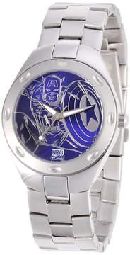 Marvel Fortaleza Captain America Mens Silver-Tone & Blue Watch