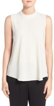 Eileen Fisher Women's Silk Crepe High Neck Sleeveless Blouse